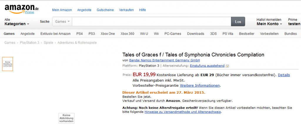 Tales of Graces f & Symhonia - Amazon.De